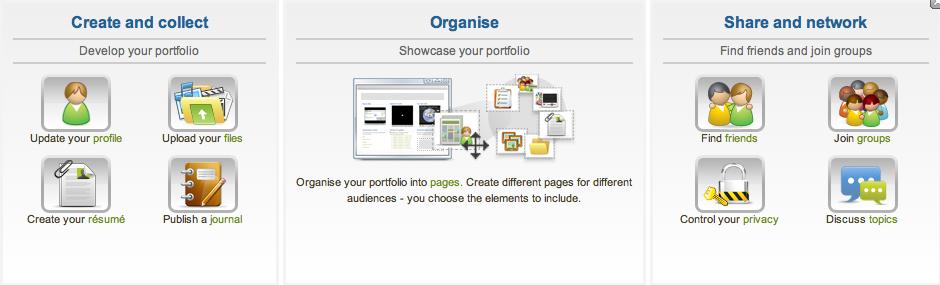 Tool 5: Mahara voor maken van e-portfolio's