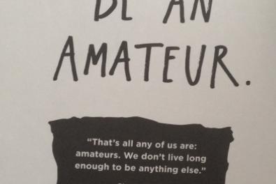 Blijf een amateur