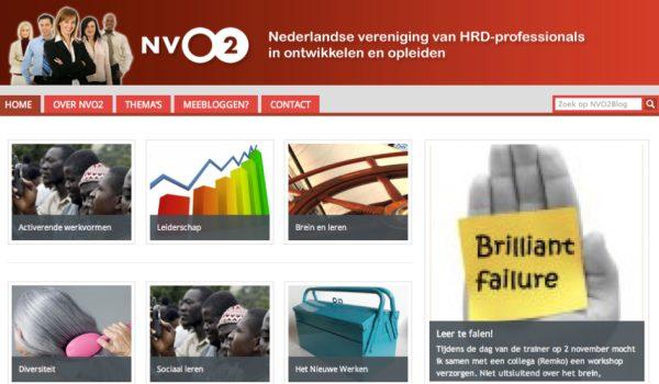 Teamblog voor kennisuitwisseling bij de NVO2
