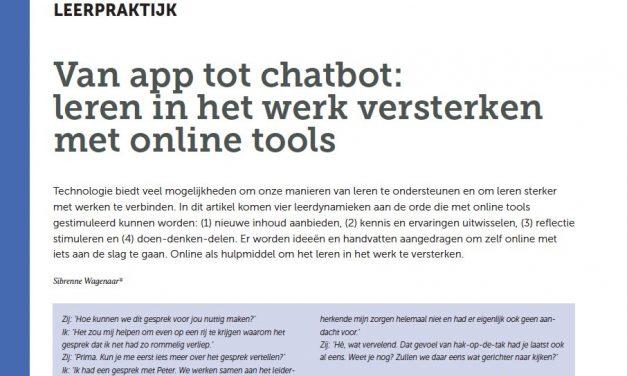 Van app tot chatbot: leren in het werk versterken met online tools